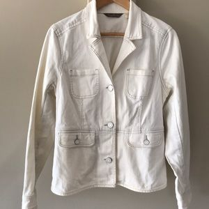 Tommy Bahama off white hip length denim jacket